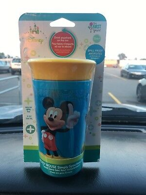 The First Years Disney Baby Simply Spoutless Cup Mickey Mouse 9oz, New