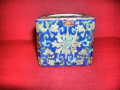 antique chinese  hand painted 19th century  porcelain pot