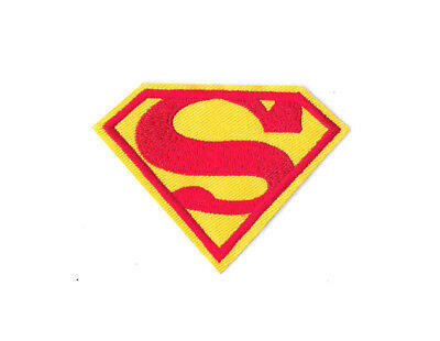SUPERMAN LOGO IRON ON / SEW ON PATCH Embroidered Badge Motif Comic Movie PT254