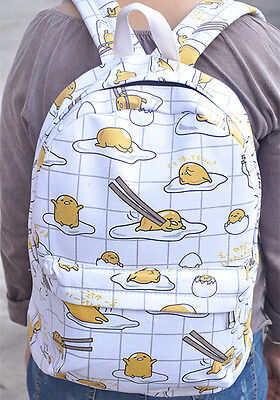 "Gudetama white egg 15"" school bag shoulder bag unisex bags new"