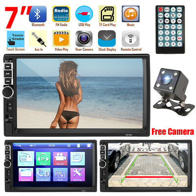"""2 Din 7"""" HD Car Stereo Radio MP5 Player Bluetooth Touch Screen + Rear Camera"""