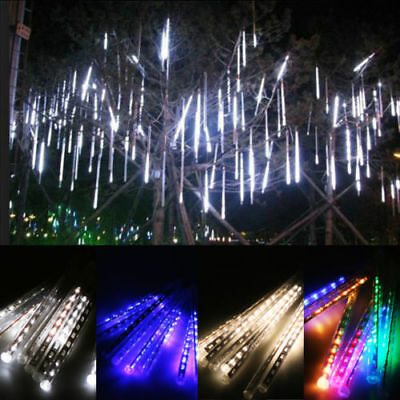 Meteor Shower Falling Star/Rain Drop/Icicle Snow LED Xmas Tree String Light Dec