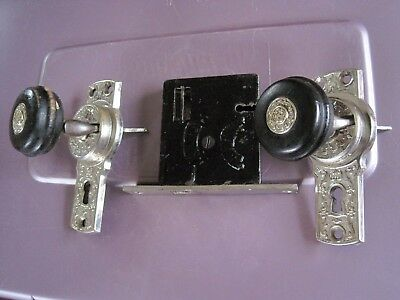 Antique Victorian Eastlake Door Knob Mortise Face Plate Gilbert Lock Co.~G.l.c.