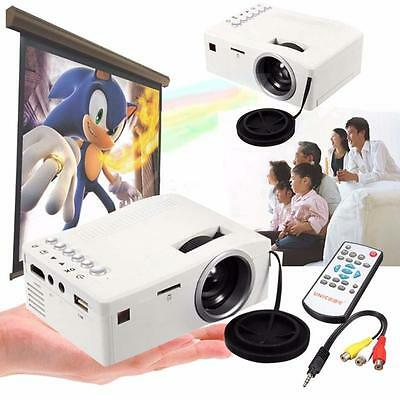1000 Lumens 3D Mini LED LCD Projector HD 1080P Home Theater HDMI USB VGA AV Bт