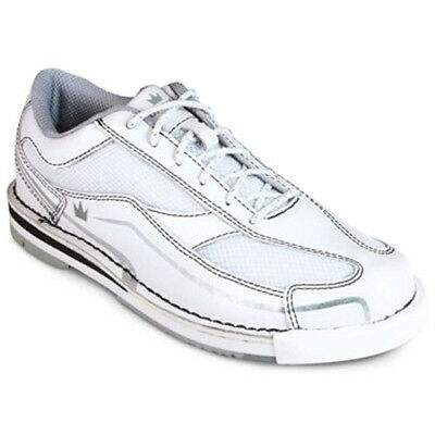 Team Brunswick White Women's Bowling Shoes w/ 5 soles and 4 heels! #REAL LEATHER