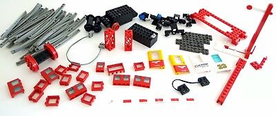 Lego Vintage Train Parts Bulk incl 4.5V Motor Signal Crossing Magnet Couplers