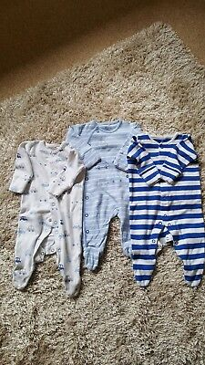 Next Baby Boy Sleepsuits up to 1 month