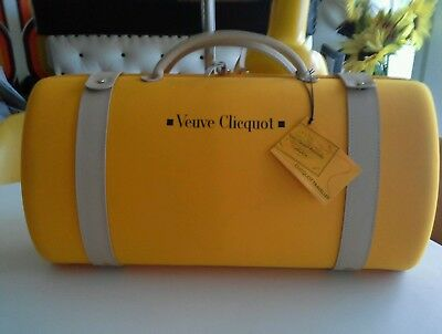 VEUVE CLICQUOT traveller yellow champagne/glasses carrier & bottle cooler.