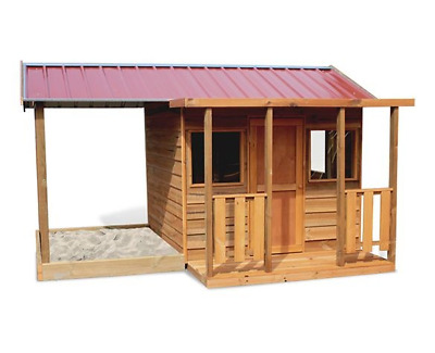 Cubby House - Wooden - SAND CABIN - with Sandpit/storage area