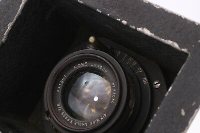 """Ross Wide Angle Xpres 4"""" f4 Lens - Old British Lens"""