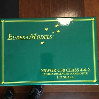EUREKA MODELS' NSW GR C38 CLASS LOCO with DCC SOUND HO SCALE