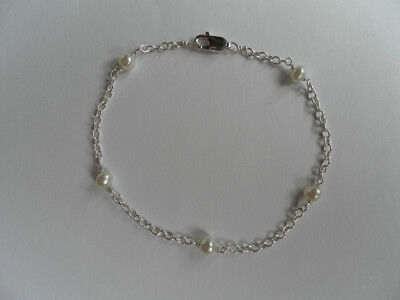 sterling silver and freshwater cultured pearl bracelet