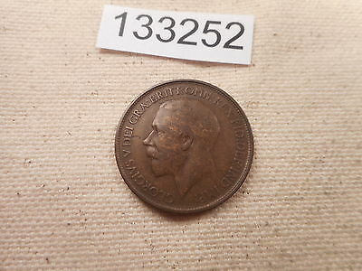 1916 Great Britain Half Penny Very Nice Grade Collectible Album Coin - # 133252