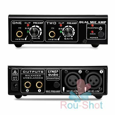 LINEPAUDIO A961 Dual-channel Microphone Amplifier Electric Guitar Bass Amplifier