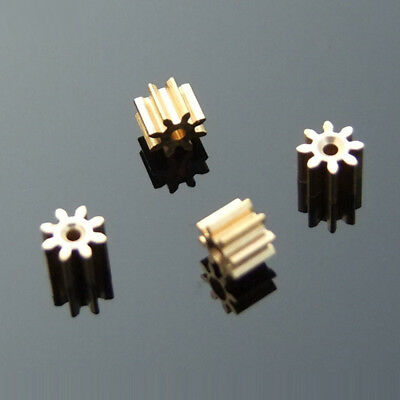 10pcs Metal Gear spindle Copper gear 8 teeth 1mm id 0.4 Modulus DIY motor