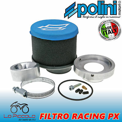 Kit Filtro Aria Racing Polini Per Vespa Px E 200 24/24 + Cicler Carburatore Or.