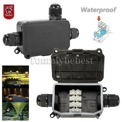 2/3 Way IP66 Waterproof Junction Box Outdoor Underground Cable Protection