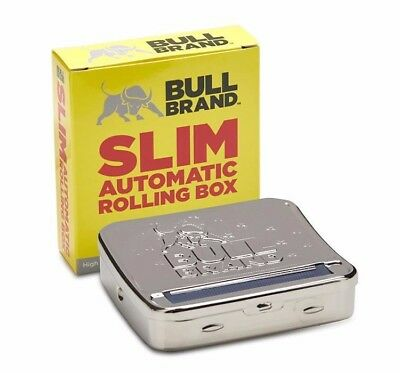 Bull Brand Slim Automatic Rolling Box /Tin for 6mm Filters Quality King Size