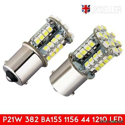 2pcs 1156 LED bulbs 44 SMD 21W 382 BA15S  Canbus Error free Side light Indicator