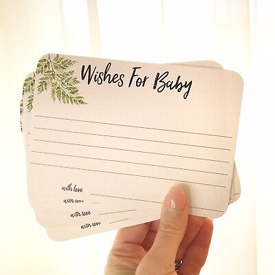 Baby Shower Game Wishes For Baby Girl Or Boy Keepsake Cards Party