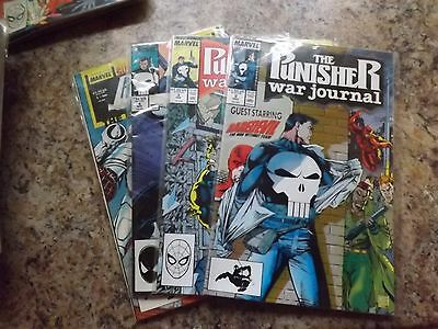 The Punisher War Journal #2,3,4 and The Punisher Evolution War #1