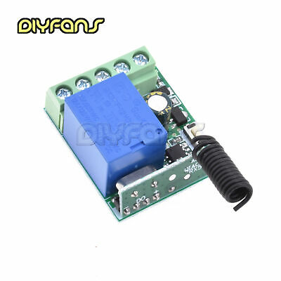12V 1 Kanal Receiver Kabellos Relay RF Remote Control Switch DIY Module 433MHz