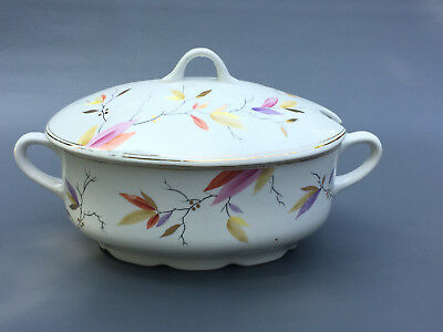 Antique late Aesthetic Movement J B China Co. ceramic soup tureen 1870's 1880's