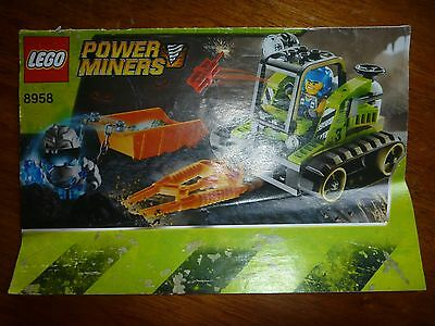 Lego Power Miners 8958 Set Instruction Manual Book Only