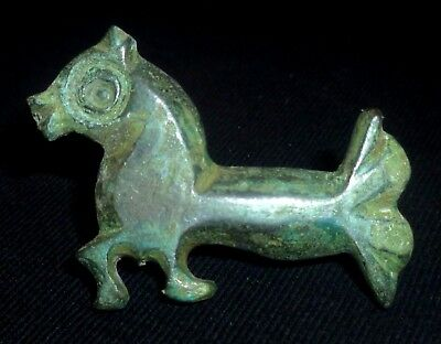 VIKING Ancient Artifact Bronze ZOOMORPHIC BROOCH / FIBULA Circa 700-800 AD  ----