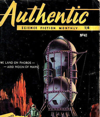 AUTHENTIC SCIENCE FICTION MONTHLY - Vintage US Sci Fi Stories Magazines on DVD
