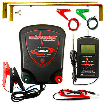 Electric Fence Energiser 12V ShockRite SRB60 0.6 Joule  Digital Fencer Tester