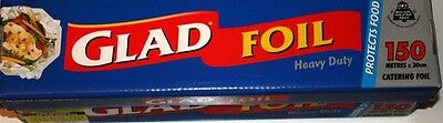 GLAD FOIL Heavy Duty 150 Meter x 30cm Catering Foil Caterers Commercial Pack New
