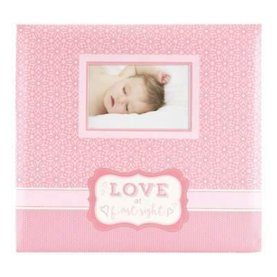 MBI Expressions Post Bound Album with Window 12 inch x12 inch Love At First S...