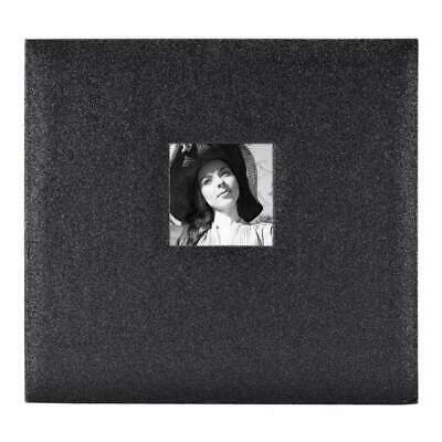 MBI Expressions Post Bound Album with Window 12 inch x12 inch Glitter Black D...