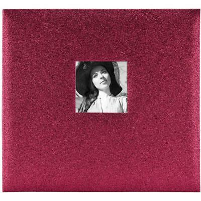 NEW MBI Expressions Post Bound Album with Window 12 inch x12 inch Glitter Red
