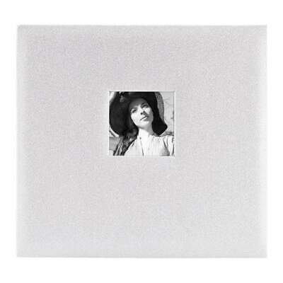 MBI Expressions Post Bound Album with Window 12 inch x12 inch Glitter Off White