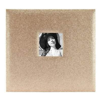 NEW MBI Expressions Post Bound Album with Window 12 inch x12 inch Glitter Golden