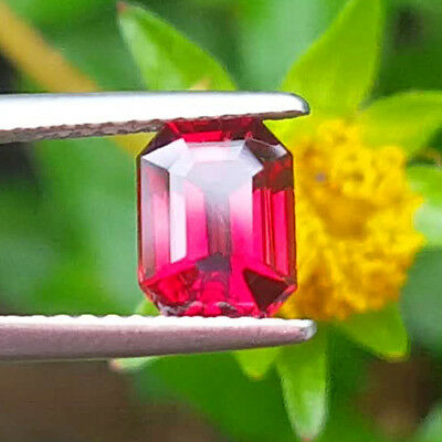 Stunning High End Color & Pristine 1.34Ct Red / Pinky Peach Natural M'gok Spinel