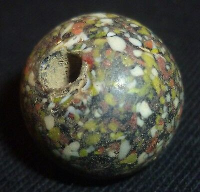 VIKING Ancient Artifact - GLASS BEAD  Circa 700-900 AD        -4946