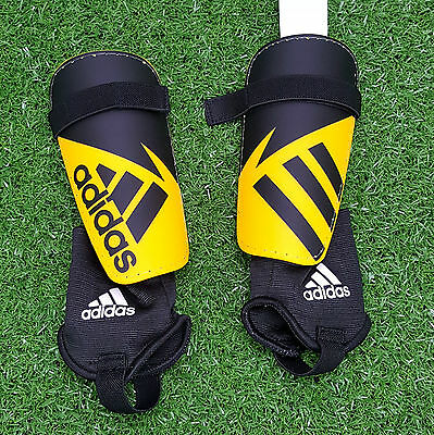 Adidas junior youth football soccer shin guards & ankle guards - size Small
