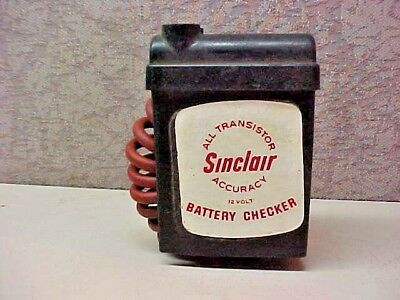 Old Vintage Sinclair Battery Checker