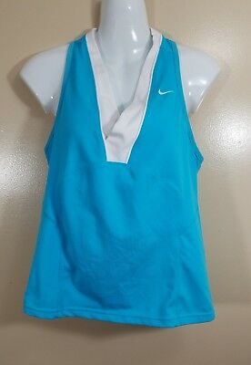 730470615c Nike Fit Dri Women s Vented Racer-Back Bra Tank Top Baby Blue Size Medium 8
