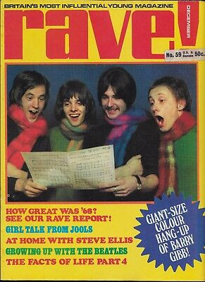 12/68 issue of RAVE magazine  THE HERD cover  Peter Frampton  The Doors The Move
