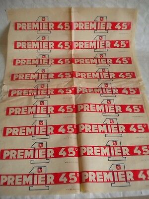 vintage advertising Premier 45 Aperitif shop window decal sheet transfer 1950s