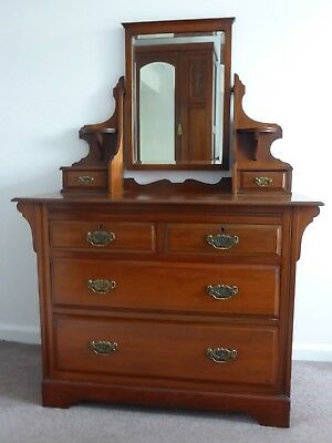 Victorian Wardrobe and Dressing Table Set