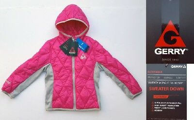New GERRY Girls' Down Hooded Lightweight Quilted Jacket Coat, Camellia, XS (5/6)