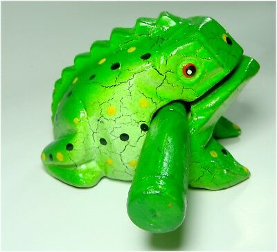 Frog Carved Thai Wooden Croaking Instrument Musical Sound Frog Handcraft Art3.5""