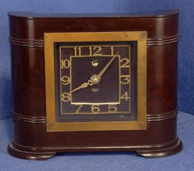 Smiths SEC Bakelite Electric Clock in Classic Art Deco Shape