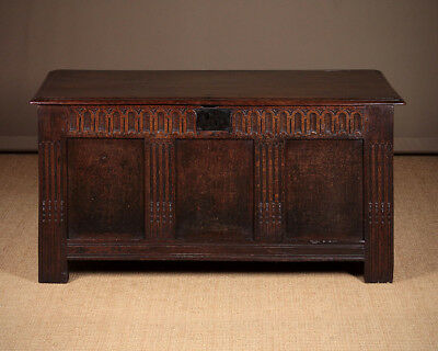 Antique 18th.c. Oak Coffer c.1700.
