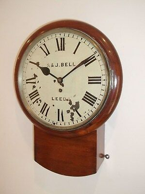 FINE, ORIGINAL DROP DIAL FUSEE WALL CLOCK ex CUSTOMS & EXCISE of NEWCASTLE.